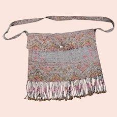Vintage Art Deco French beadwork purse