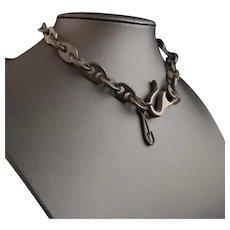 Antique Vulcanite watch chain, Albert chain