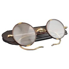 Vintage Art Deco 1920's round framed spectacles