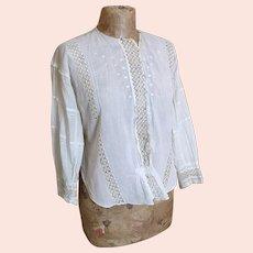 Antique Edwardian lawn cotton blouse