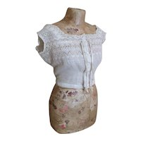 Edwardian lawn cotton camisole
