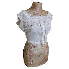 Edwardian lawn cotton camisole