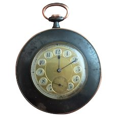 Antique French pocket watch, gunmetal and Rose gold