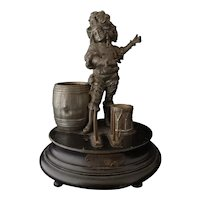Antique musical smokers stand