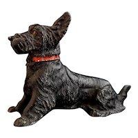 Vintage dog table vesta, Ashtray, Terrier