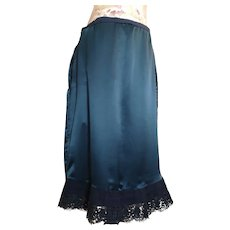 Antique Edwardian satin underskirt, petticoat