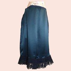 Antique Edwardian satin underskirt, petticoat