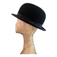 Vintage Art Deco felt bowler hat, Lock and Co