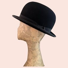 Vintage Art Deco felt bowler hat, Lock and Co