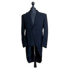 Vintage gents black wool tailcoat