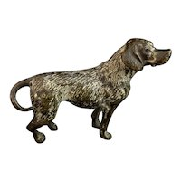 Antique cold painted bronze miniature dog