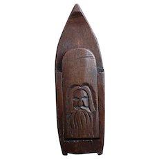 Antique snuff box, folk art, 19th century