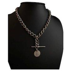 Antique silver Double Albert chain, Victorian