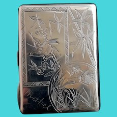 Victorian silver card case, aesthetic