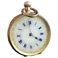 Antique 14k gold pocket watch, fob watch