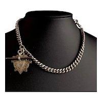 Antique Victorian silver double Albert chain