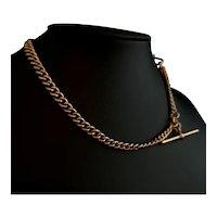 Antique 9k Rose gold Albert chain, watch chain