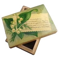 Victorian boxwood friendship box