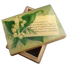 Victorian boxwood friendship box