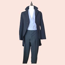 Vintage gents 1930's suit, tailcoat, fishtail trousers and waistcoat