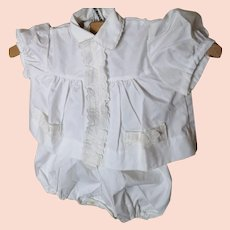 Vintage French baby suit, blouse and bloomers