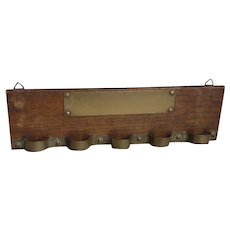 Antique pipe rack, wall mountable