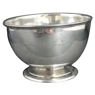 Victorian sterling silver presentation bowl