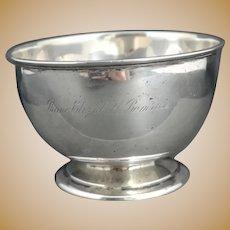 Victorian sterling silver presentation bowl