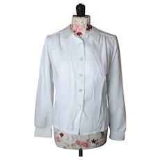 Vintage 1940's ladies White blouse