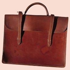 Vintage tan leather attache case