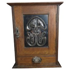 Antique Art Nouveau smokers cabinet