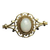 Vintage estate 9k gold Opal brooch