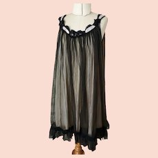 Vintage chiffon babydoll, negligee, 60's