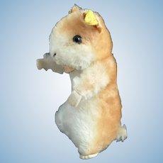 Vintage Steiff hamster, Goldy, 50's ear tag