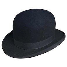 Vintage gents black felt bowler hat
