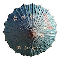 Antique Japanese paper parasol, Wagasa