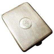 Vintage 20's sterling silver vesta / match safe