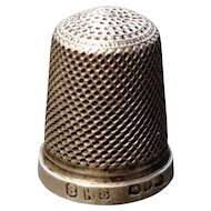 Antique Victorian sterling silver thimble