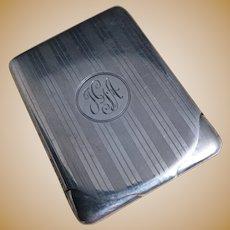 Vintage sterling silver match safe, vesta, 20's