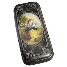 Antique Russian lacquer snuff box