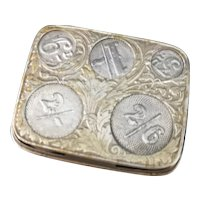 Antique coin holder, Art Nouveau