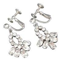 Vintage paste drop earrings, Norman Hartnell