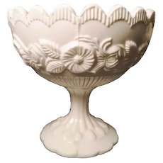 Victorian milk glass pedestal sugar bowl