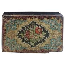 Antique Victorian papier mache snuff box
