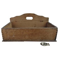 Rustic antique French wall hanging box, primitive