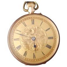Antique 9kt rose gold pocket watch