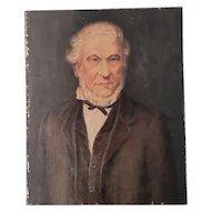 Antique oil portrait of a gentleman, English school, 19th century