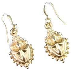 Antique Victorian 9kt gold earrings