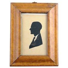 Antique Birds eye Maple frame and silhouette