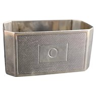 Vintage sterling silver napkin ring, O monogram